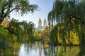Central Park Fall Landscape in New York City Royalty Free Stock Photo