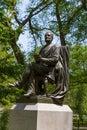 Central park fitz greene halley statue new york manhattan us Stock Photo