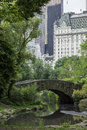 Central Park Gapstow bridge Stock Image