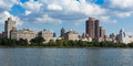 Central Park Lake  in  Manhattan, New York Stock Photo