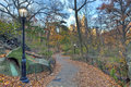 Central Park late autumn Stock Image