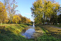 Central park of lutsk city in early autumn ukraine Royalty Free Stock Photography