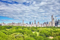 Central Park and Manhattan Upper East Side, NYC. Royalty Free Stock Photo