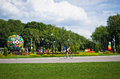 Central park named after belousov of culture and rest green landscape tula russia Royalty Free Stock Photos