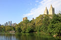 Central park in new york aview of city Royalty Free Stock Photo
