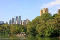 Central park in new york aview of city Royalty Free Stock Photos