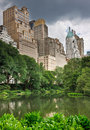 Central Park and New York City Royalty Free Stock Photo