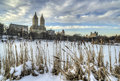 Central park new york city after snow storm in Stock Photography