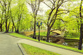 Central park in riga city by spring latvia the image was taken is the capital and largest of a major commercial cultural Stock Image