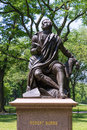 Central park robert burns manhattan new york statue us Royalty Free Stock Images