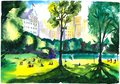 Central park in sunny summer weather