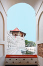 The central part of temple of the tooth in kandy sri lanka dalada maligawa Royalty Free Stock Images