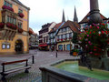 Central place of Obernai town - Alsace Royalty Free Stock Photos