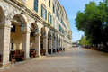 Central plaza of corfu, greece Stock Images