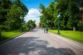 Central recreation park in the capital of Russia Moscow named `Aleksandrovsky sad`. This is the favorite vacation spot of the citi Royalty Free Stock Photo