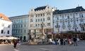 Central square in Bratislava, Slovakia