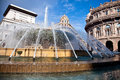 The central square of Genoa Royalty Free Stock Photography