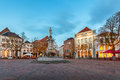 Central square in the historic Dutch city Deventer Royalty Free Stock Photo