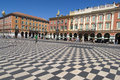 Central square in nice france place massena new landmark of the town Stock Photography