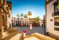 Central square in old town Santa Cruz de la Palma Royalty Free Stock Photo