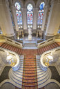 Central staircase of the Peace Palace Royalty Free Stock Photo