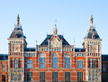 Central station amsterdam exterior of the in the netherlands Stock Photography