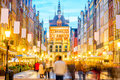 Central street in Gdansk Royalty Free Stock Photo