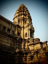 Central Tower of Angkor Wat Royalty Free Stock Image