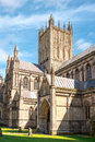 Central tower of Wells cathedral Royalty Free Stock Photo