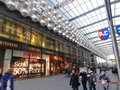 Centrum galerie shopping centre in dresden germany is significant of specially christmas time Stock Photography
