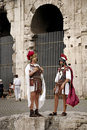 Centurions at the Coliseum,Rome,Italy Stock Photos