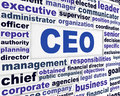 Ceo business words concept leader conceptual background Royalty Free Stock Image