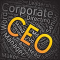 CEO,Word cloud art background