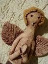 Ceramic angel praying #2 Royalty Free Stock Photo