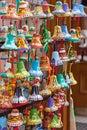 Ceramic bells handmade souvenir decorative Royalty Free Stock Photography