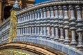 Ceramic Bridge inside Plaza de Espana in Seville, Spain. Royalty Free Stock Photo