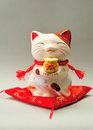 Ceramic cat japanese new year decoration Stock Image