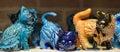 Ceramic cat souvenir shop Royalty Free Stock Photo