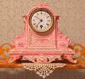 Ceramic clock in palace saint anton slovakia february table from cent Stock Image