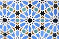 Ceramic closeup of a tile in reales alcazares seville andalucia spain Stock Photos