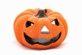 Ceramic figure pumpkin as a symbol of halloween Stock Photo