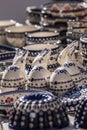 Ceramic handmade pots and bowls Royalty Free Stock Photo