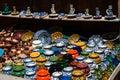 Ceramic handmade pottery Royalty Free Stock Photo