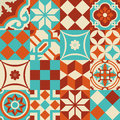 Ceramic mosaic tile pattern with geometry shapes Royalty Free Stock Photo