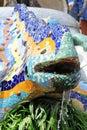 Ceramic mosaics decorated lizard - Guell Park Royalty Free Stock Photo