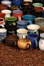 Ceramic mug collection Royalty Free Stock Photos