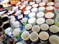 Ceramic Mugs Royalty Free Stock Photography
