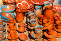 Ceramic mugs, cups, and pots. Stock Images