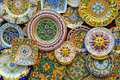 Ceramic plates in classic Sicilian style, Erice Royalty Free Stock Photo