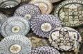 Ceramic plates painted Royalty Free Stock Photo